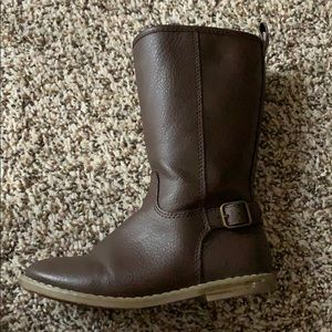 Girls Brown Leather Boots